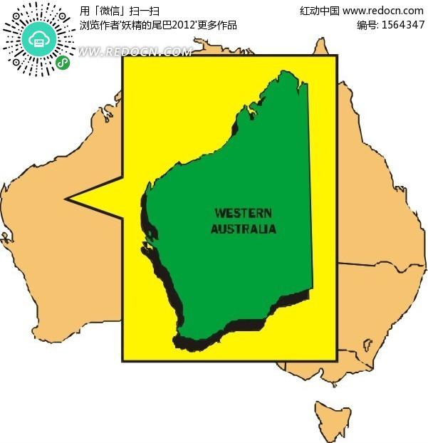 澳大利亚地图素材