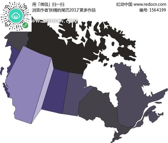 手繪加拿大地圖上的阿爾伯達省
