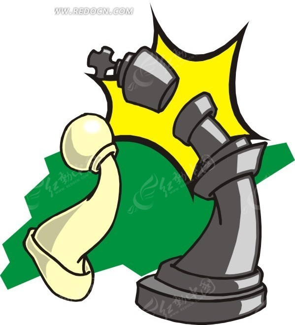 手绘国际象棋棋子