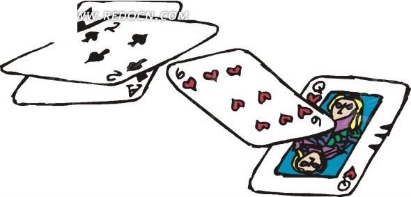 手绘扑克牌