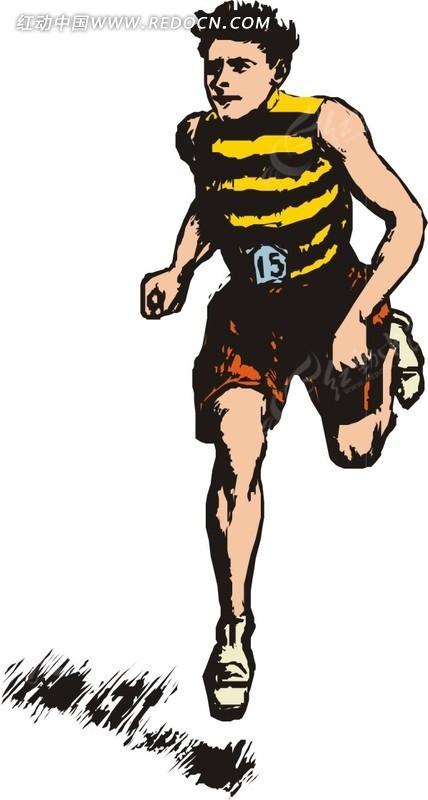 正在跑步的运动员