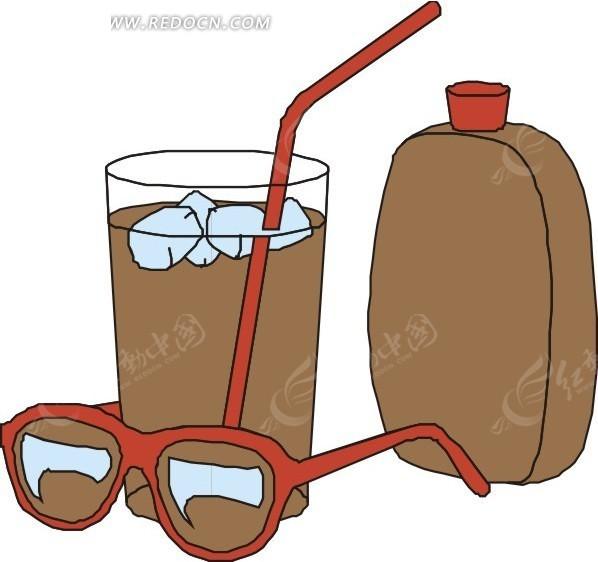 手绘眼镜饮料防晒霜