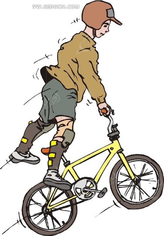 骑自行车运动的男孩