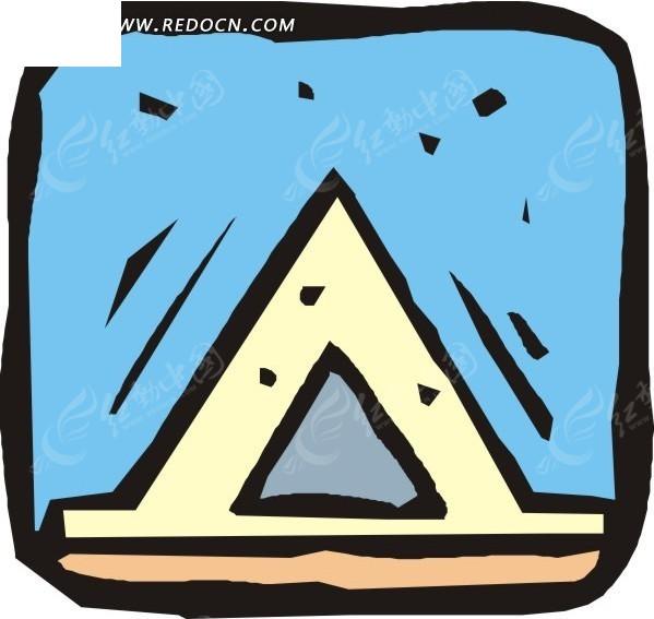 手绘三角形标志图案