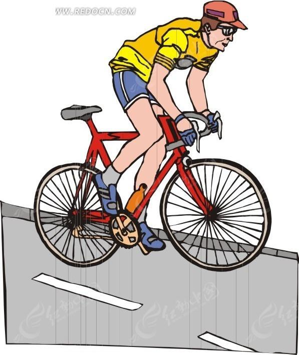 插画公路上的赛车手