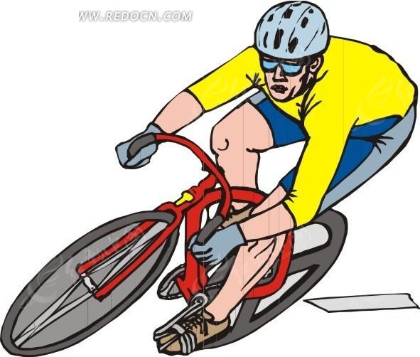 单车 自行车 骑车 卡通画 插画 手绘 矢量素材 人物图片 卡通形象