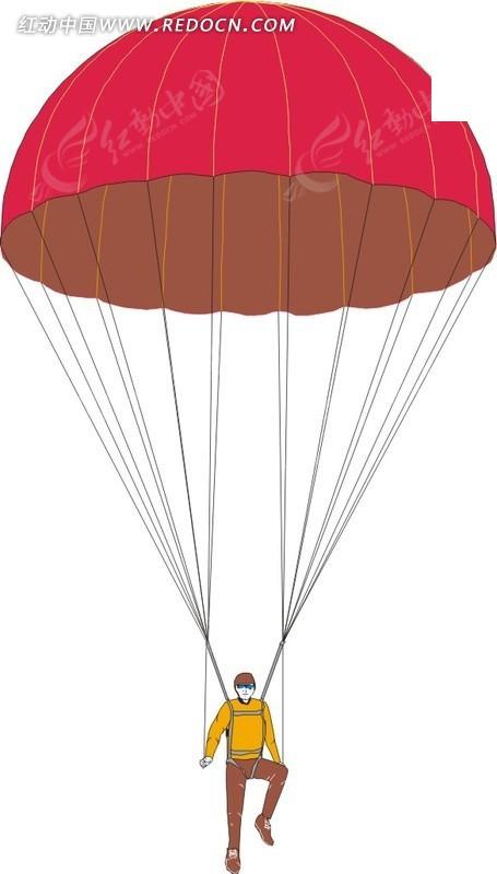降落伞卡通图片大全; 卡通降落伞图片; 降落伞图片;