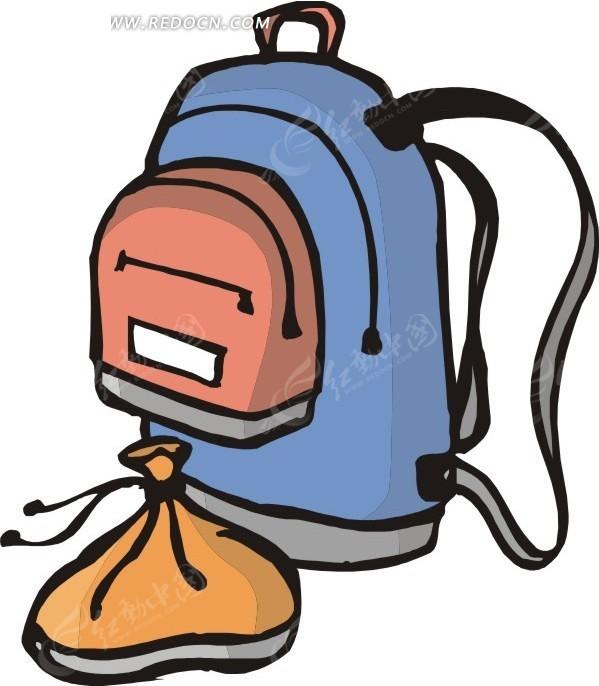 免费素材 矢量素材 生活百科 体育运动 手绘背包和袋子