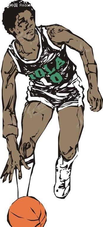 手绘篮球漫画图片