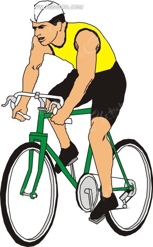 骑自行车的男人