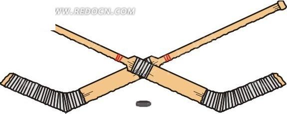 手绘曲棍球棒
