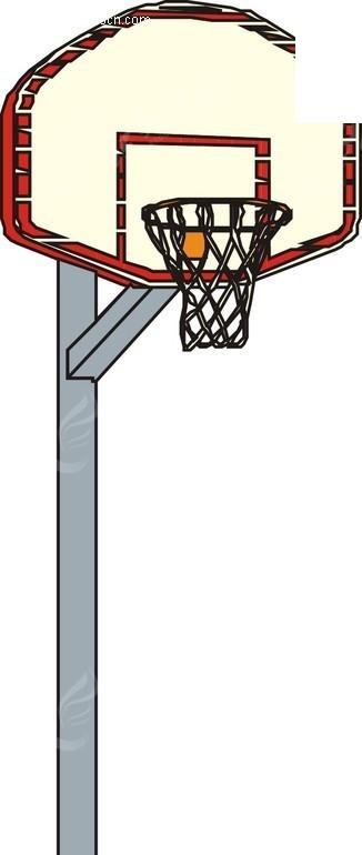 手绘篮球架