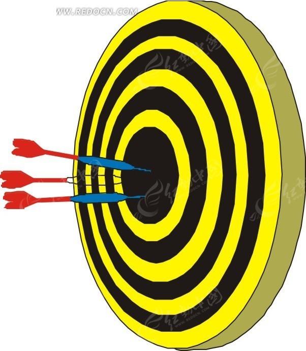 射中手绘飞镖的靶心围棋小词典图片