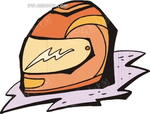 摩托车头盔矢量图_体育运动