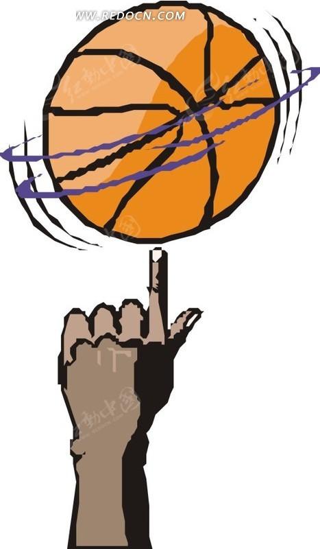 手指转篮球eps素材免费下载_红动网