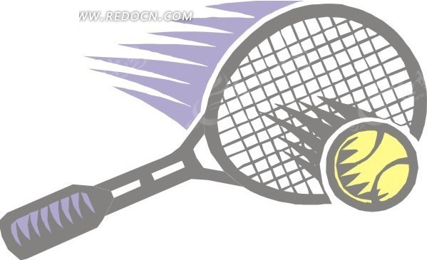 灰色网球拍矢量图eps免费下载_体育运动素材