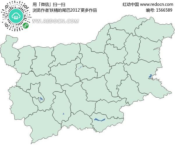 保加利亚地图 欧洲国家
