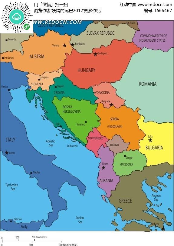 巴尔干半岛地图