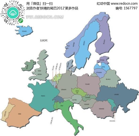 欧洲地图全图大图_【手绘地图】见证欧洲历史Acfun天下漫友