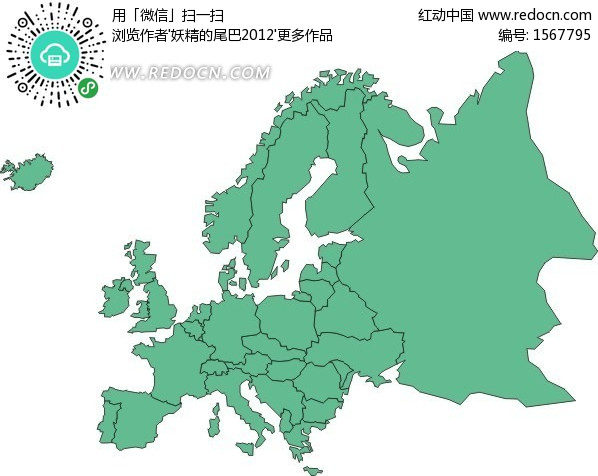 欧洲地图 手绘地图