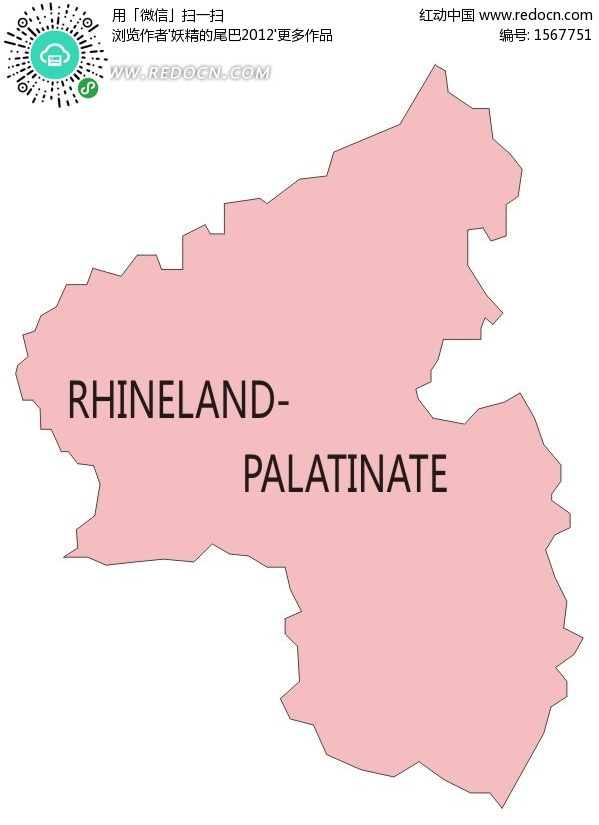 法尔茨州的德国地图