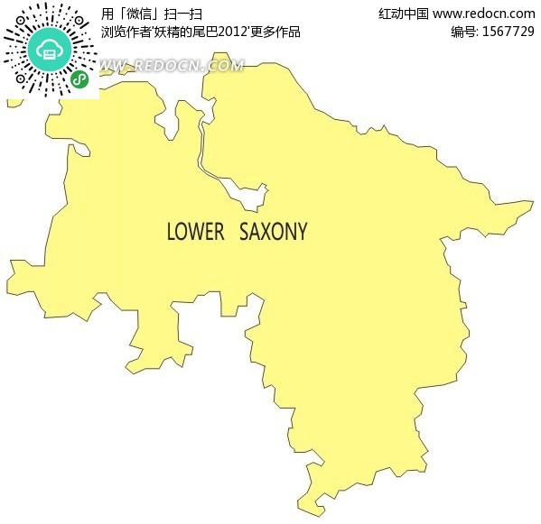 德国下萨克森州地图