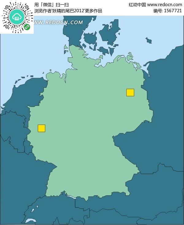 地图上的黄色方形