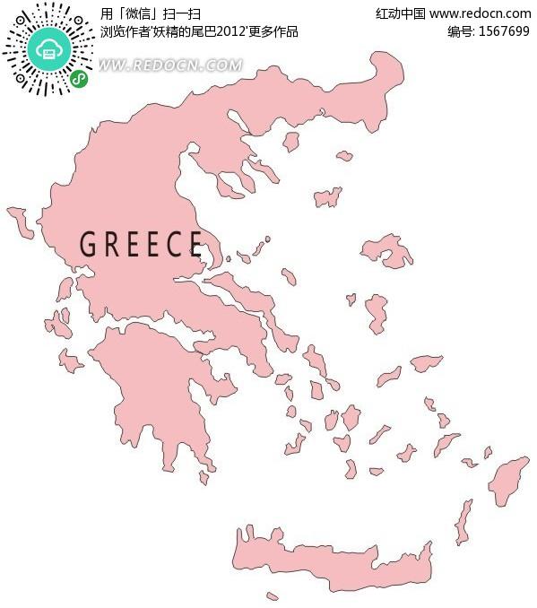 希腊地图 手绘地图