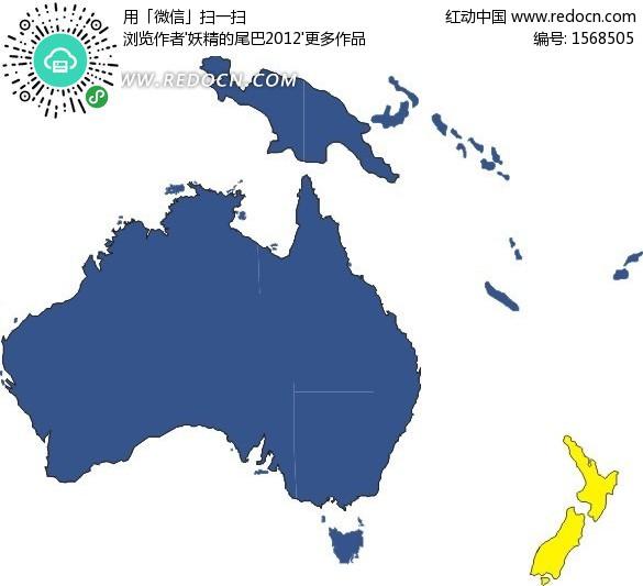 新几内亚 手绘地图