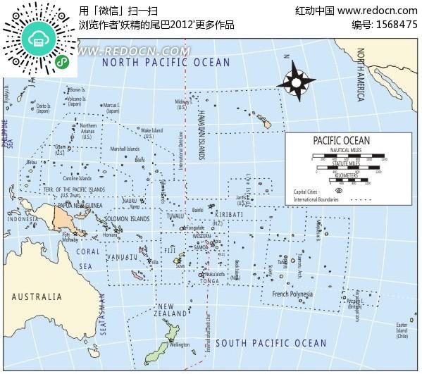 北太平洋矢量地图