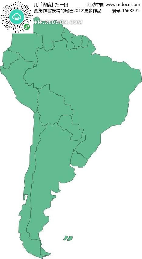 矢量绿色非洲地图矢量图