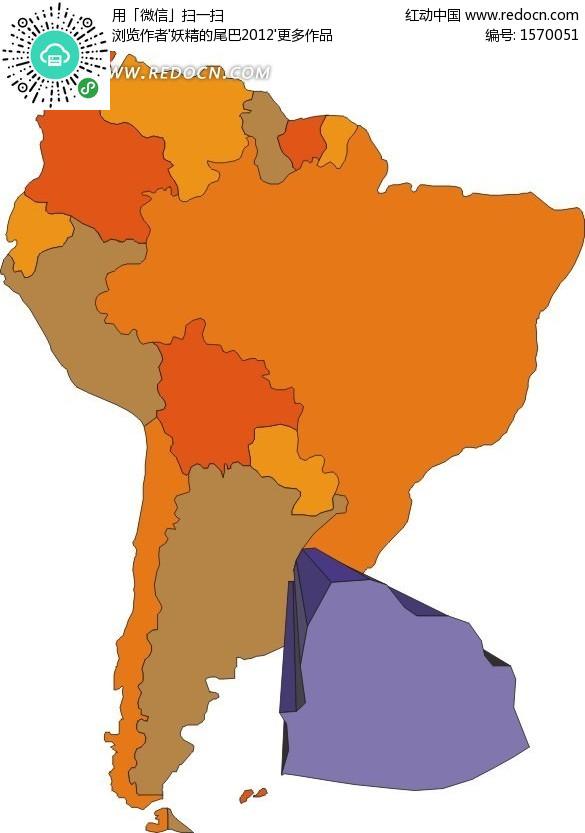 南美洲地图上的乌拉圭矢量图