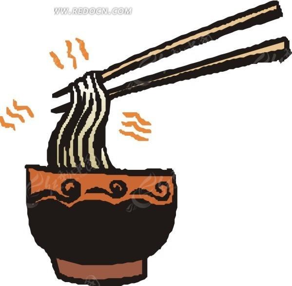 一碗面条和筷子EPS素材免费下载 编号1570757 红动网