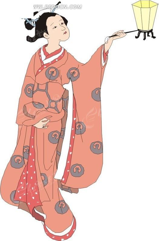 灯笼  日本女子