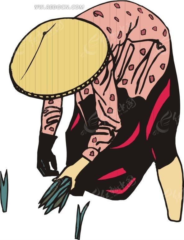手绘帽子插画图