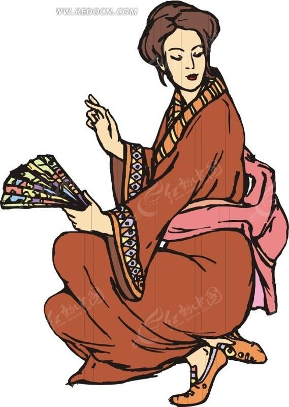 日本和服卡通美女分享;