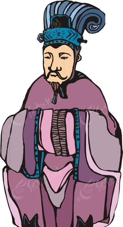 里的手绘古代男子