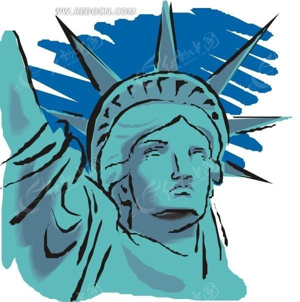 自由女神像卡通形象