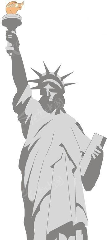 手绘自由女神像