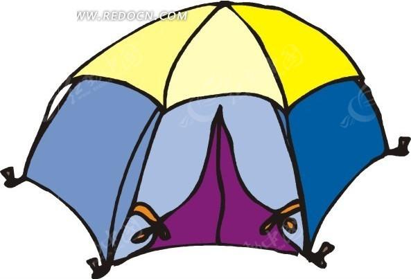手绘户外帐篷图片