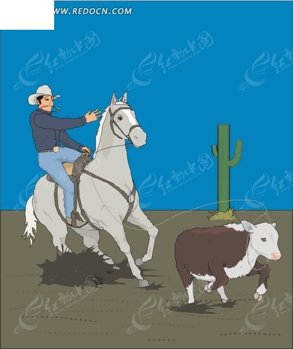 骑马的牧羊人