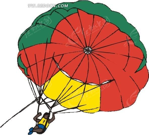 手绘空中拖伞