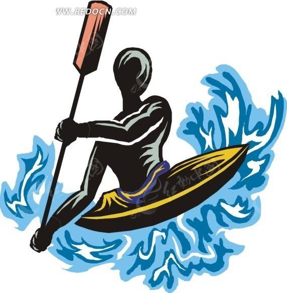 划船运动的人物
