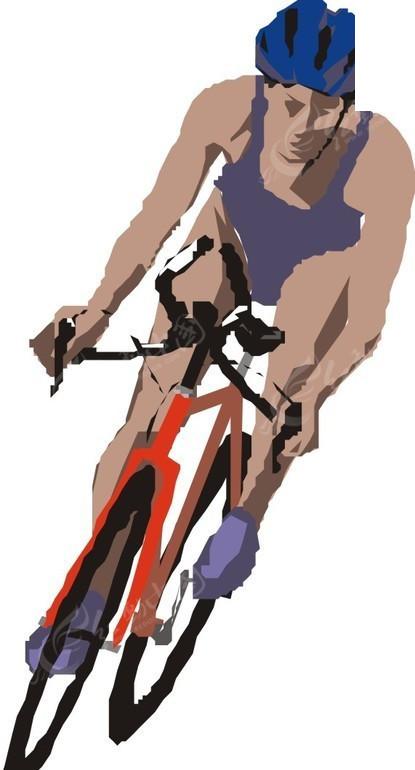 自行车   体育运动  手绘  插画  卡通画  卡通形象  漫画素材   生活