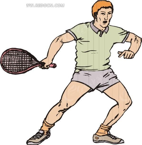 运动 运动员 卡通人物 卡通画 插画 手绘 矢量素材 人物图片  生活