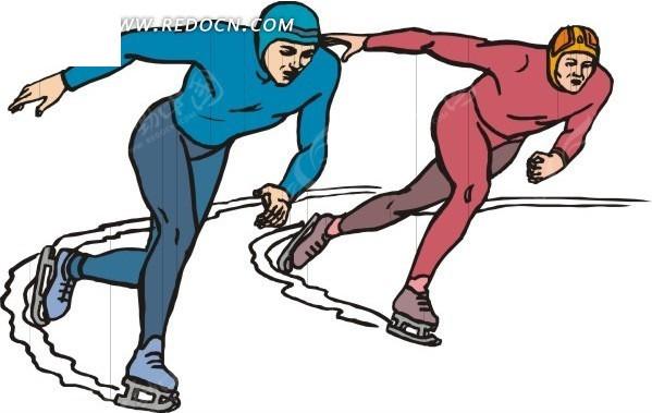轮滑卡通图片;