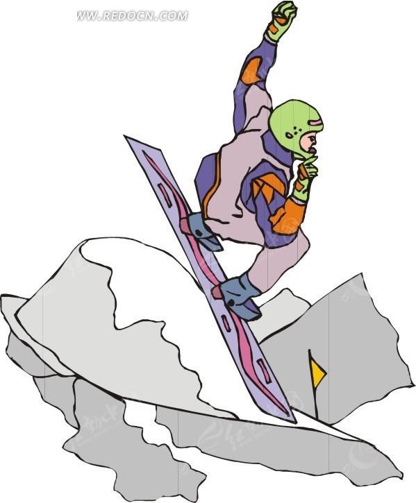 滑雪运动素材漫画矢量图a素材漫画图图片