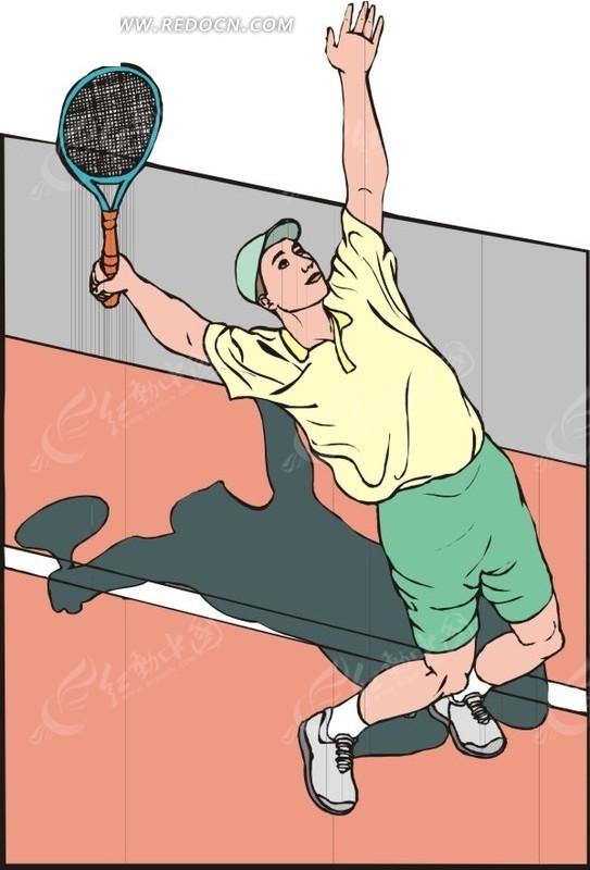 网球发球eps素材免费下载_红动网图片
