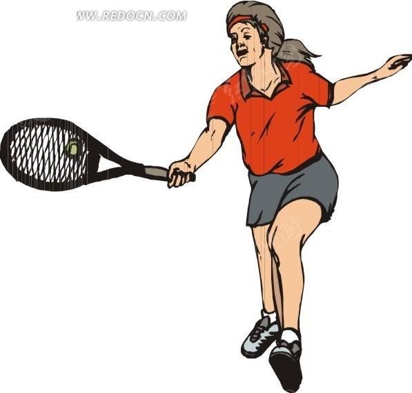 女子网球 女子 网球 eps素材 矢量 矢量素材 插画  生活百科图片