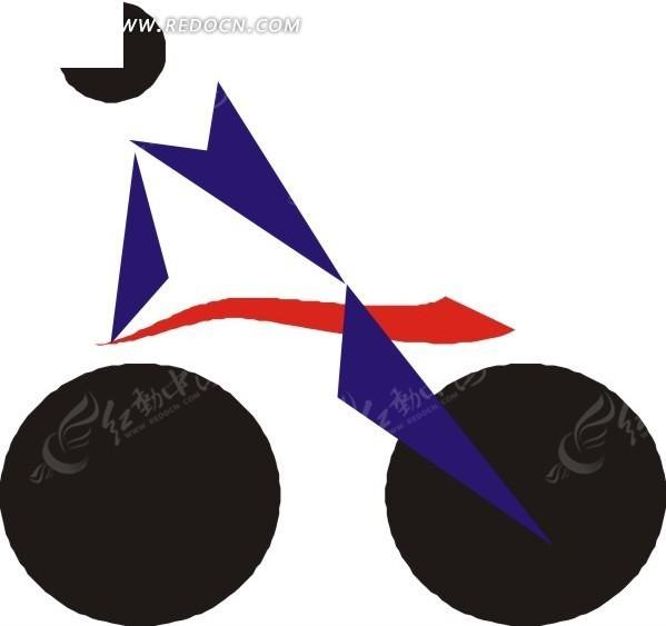 手绘单车比赛标志